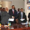 Dr. Abdisalam Omar Hadlie oo xilka Wasiirka Arrimaha Dibadda kala wareegay Dr. Abdirahman Beileh.