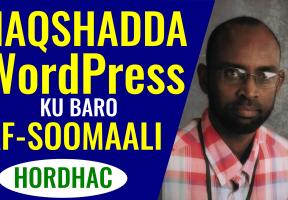Naqshadda WordPress Ku Baro Af-Soomaali – Hordhac